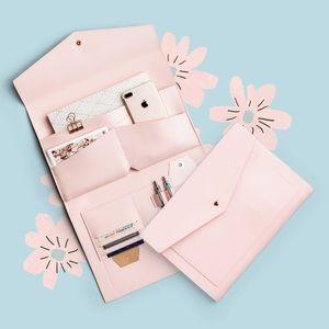 Blush Pink portfolio clutch